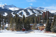 Breckenridge, Colorado. The snowy slopes of Breckenridge, Colorado Stock Photography