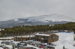 Breckenridge Colorado during snowy winter. Ski town Breckenridge Colorado is covered with fresh snow royalty free stock photography