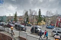 Breckenridge Colorado. A view main street of Breckenridge, Colorado, USA stock images