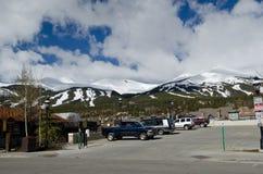 Breckenridge Colorado. White snowy ski slopes of Breckenridge, Colorado, USA stock photography