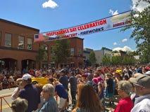 Breckenridge du centre, le Colorado - 4ème du défilé de juillet Image libre de droits