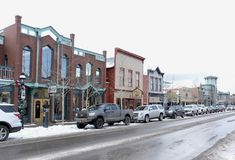 Breckenridge, le Colorado Main Street Photos stock