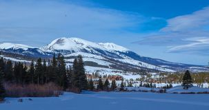 Breckenridge Mountains from Snowshoe Trail. Winter photography royalty free stock photo