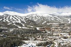 Breckenridge. Ski area in the Winter stock photo