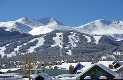 Breckenridge Ski Slopes Foto de Stock Royalty Free