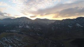 Breckenridge Ski Slopes bei Sonnenuntergang Stockbilder