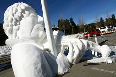 Breckenridge Snow Sculpture Competition Stock Images