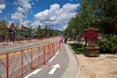 Breckenridge van de binnenstad, Colorado - 4 van Juli stock foto's