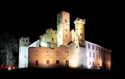 Breclav Castle in night Royalty Free Stock Photo