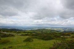 Brecon信标岗在从小山顶的南威尔士 免版税库存图片