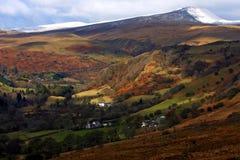指引brecon国家公园 库存图片