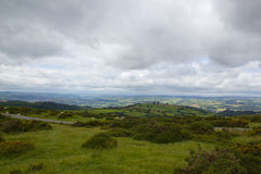 Brecon Beacon hills in South Wales from hilltop Royalty Free Stock Image