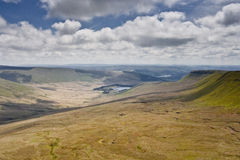 Brecon Beacons. The landscape of the Brecon Beacons in Wales, UK Royalty Free Stock Photos