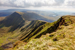 Brecon Beacons National Park from Pen Y Fan. View of the Brecon Beacons National Park from the peak of Pen Y Fan Royalty Free Stock Photography