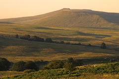 Brecon Beacons National Park - Wales. Landscape at sunset on the hills/mountains of Brecon Beacons National Park, Wales Royalty Free Stock Photography