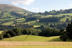Brecon Beacons National Park Wales UK. Landscape of rolling hills in Brecon Beacons National park in Wales, UK Royalty Free Stock Photography
