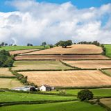 Brecon Beacons National Park Wales UK. Landscape of rolling hills in Brecon Beacons National park in Wales, UK Stock Image