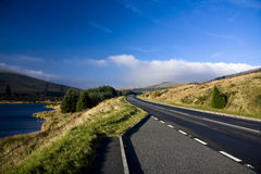 Brecon Beacons Tranquility. My sort of road in the Brecons (A470), mid Wales Stock Photo