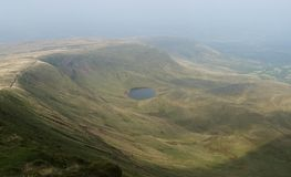 Brecon Beacons United Kingdom. Mountains in Brecon Beacons stock photo