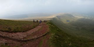 Brecon Beacons United Kingdom. Mountains in Brecon Beacons royalty free stock photos