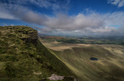 Brecon Beacons View. A view over the Brecon Beacons in Wales, from Corn Du, the second higher peak in Southern Britain Royalty Free Stock Photo