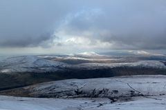 Brecon Beacons, Wales. Winter from Pen y Fan, Brecon Beacons, South Wales Stock Photography