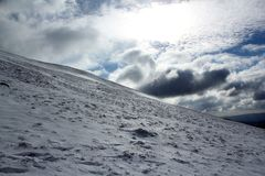 Brecon Beacons, Wales. Winter from Pen y Fan, Brecon Beacons, South Wales Royalty Free Stock Image