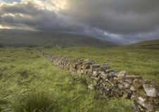 Brecon Beacons Wall. Wall in Brecon Beacons, South Wales, UK Stock Photography