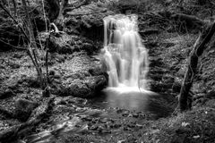 Brecon Beacons Waterfall Perspective Stock Photos