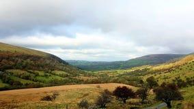 Brecon bebakent nationaal Park in Wales Stock Afbeeldingen