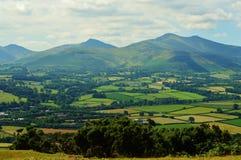 Brecon Brecons från penna y Grug Arkivbilder