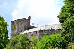 Brecon castle in sunny day Stock Images
