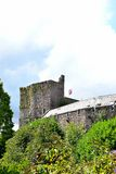 brecon castle in sunny day Stock Photography