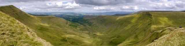 Brecon erleuchtet Panorama lizenzfreie stockbilder