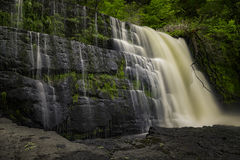 Brecon Falls. Waterfall Country in the Brecon Beacons Stock Images