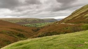 Brecon ilumina a vista da passagem do gospel, Powys, Gales, Reino Unido imagens de stock royalty free