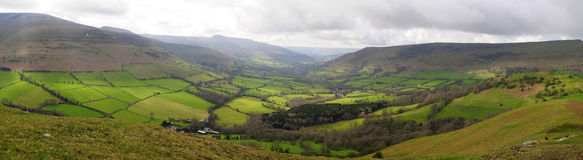 Brecon Panoramic Stock Photo