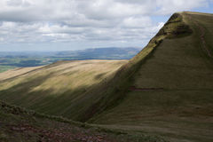 Brecon señala con almenara el parque nacional Foto de archivo libre de regalías