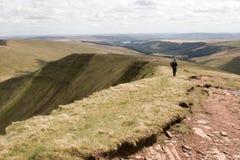 Brecon señala con almenara la opinión de parque nacional Fotografía de archivo