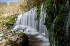 Brecon vattenfall 6 Arkivfoto
