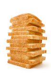 Bred. Meal. The cut bread on a white background Royalty Free Stock Photos