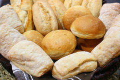 Bred basket. With french roll stock image