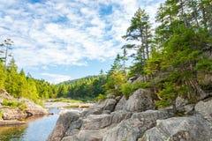 Bred flod längs horn- slinga för älg Fotografering för Bildbyråer