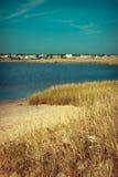 Bred flodmynning i kust- område av uddtorsk, Massachusetts Royaltyfri Fotografi