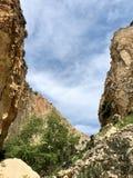 Bred kanjon i Cypern royaltyfria bilder