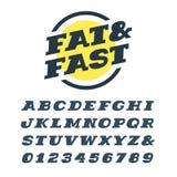 Bred kursiv tjock skivaseriffstilsort Vektoralfabet med latinska bokstäver vektor illustrationer