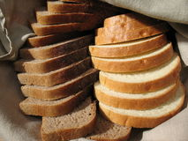 Bred in linseed serviette. Fresh-baked bread Stock Images
