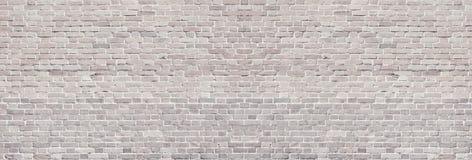 Bred ljus textur för tegelstenvägg Panorama- tappningbakgrund för grovt murverk fotografering för bildbyråer