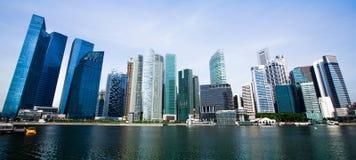 Bred panorama av Singapore. Royaltyfri Bild