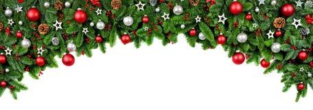 Bred pilbåge formad julgräns royaltyfri foto